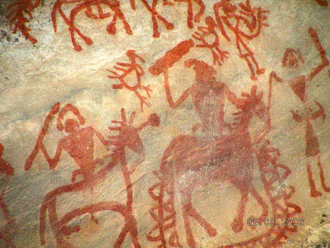 Painting On Bhimbetka Cave