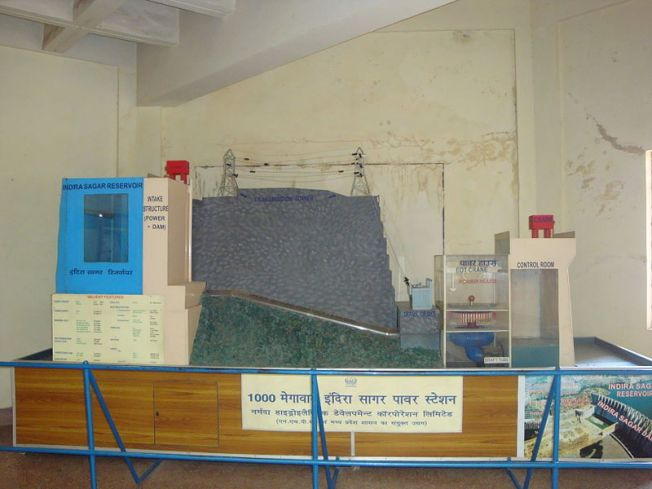 A model of the Indira Sagar Power Station