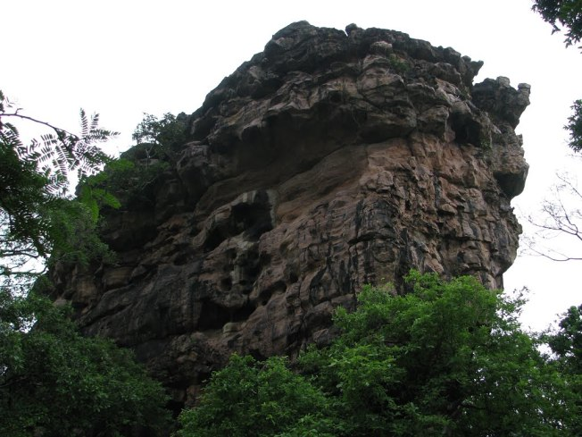 A Rock At Bhimbetka Bhopal