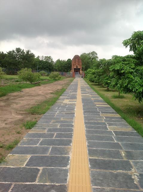 A walkway towards Sirpur Laxman Temple