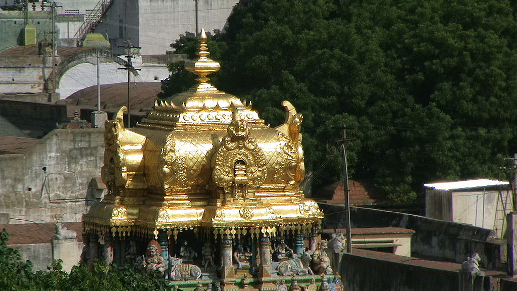 Golden Shikhar Of Temple
