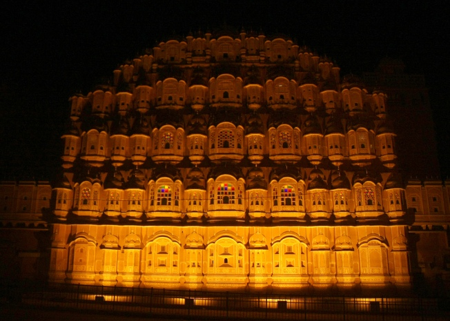 At Night Hawa Mahal