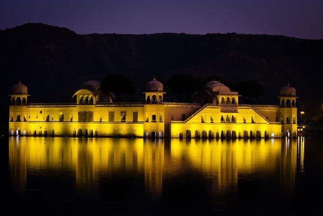At Night Jal Mahal