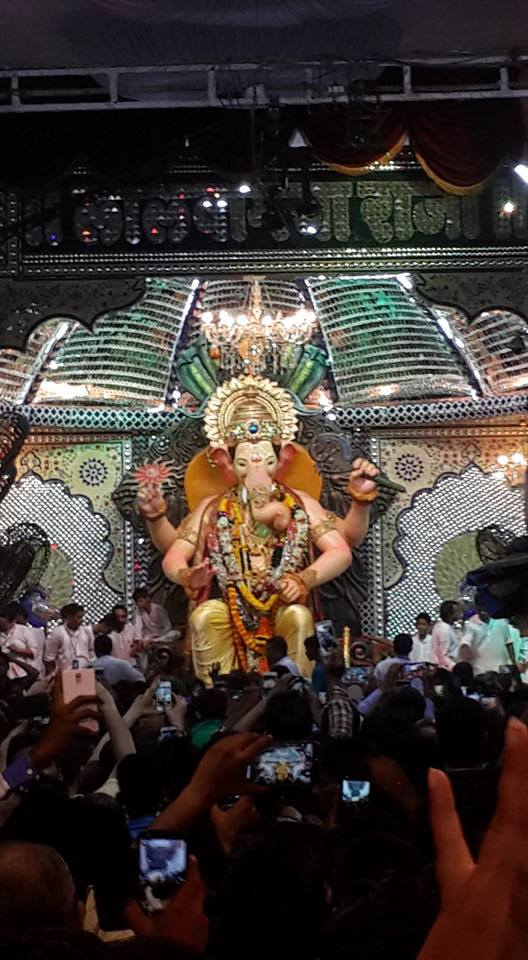 A close snapshot of Lalbaugcha Raja