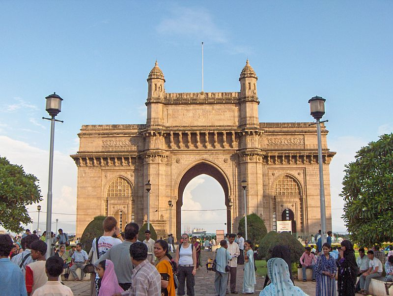 Many international and local tourist visits Gate Way of India